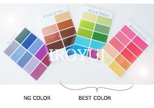 パーソナルカラー別カラーチャート