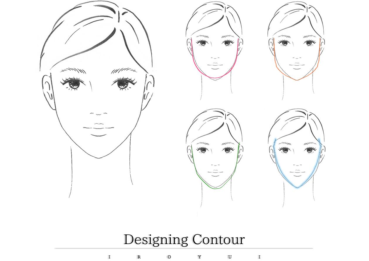 5種類の輪郭ごとのハイライトやシェーディングを使ったメイク方法
