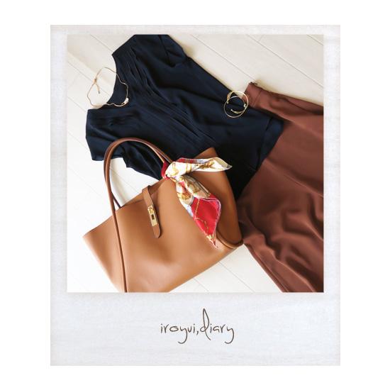 パーソナルカラー春と骨格診断ウェーブのファッションコーディネート例