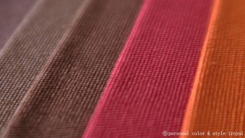 パーソナルカラー、オータムの茶色やレンガ色