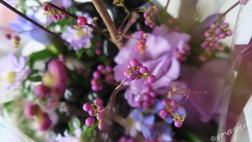 サロンに飾っている花束
