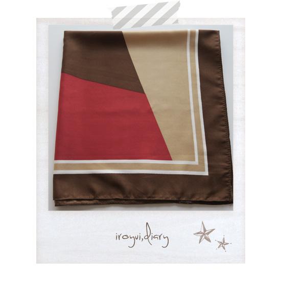 パーソナルカラー秋の赤と茶の配色ストール