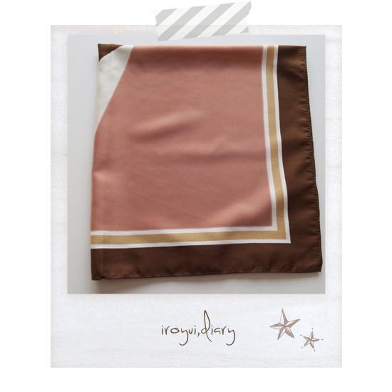 パーソナルカラーオータムのピンクとブラウンの配色のストール