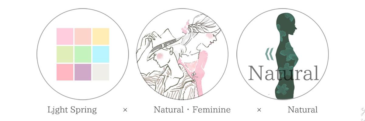 ライトスプリング骨格ナチュラルフェミニン