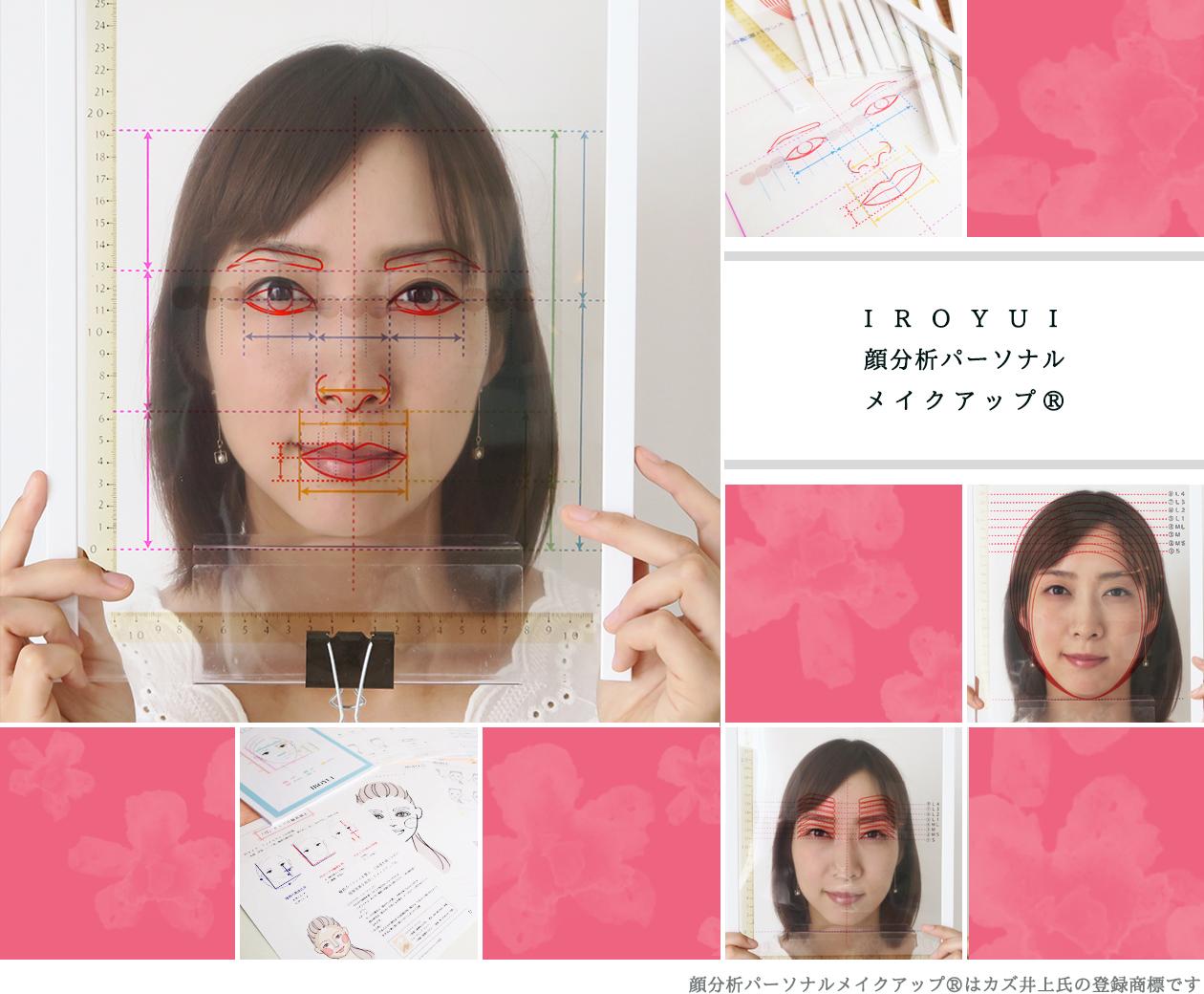 顔分析メイクアップレッスン顔タイプ診断